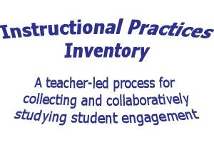 Teaching Practices Inventory – Fast and easy!